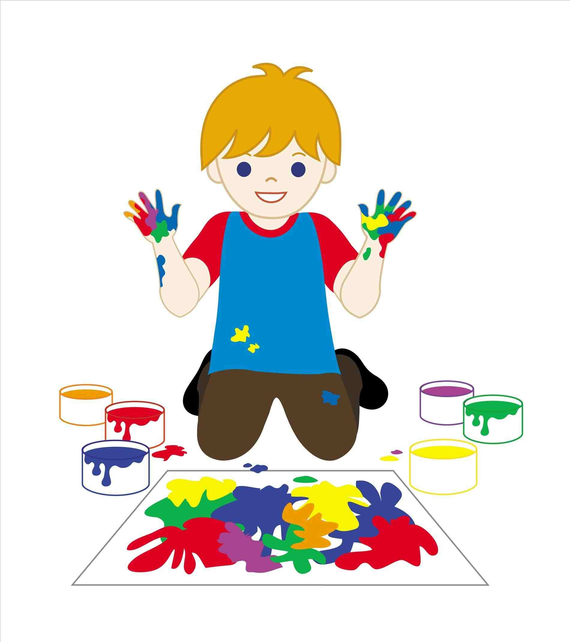 Fingers clipart childrens. Painting picture for kids