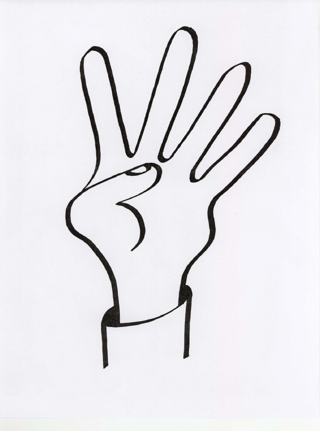Fingers clipart drawing. Middle finger free to