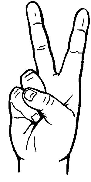 Fingers clipart drawing. Draw peace sign collection