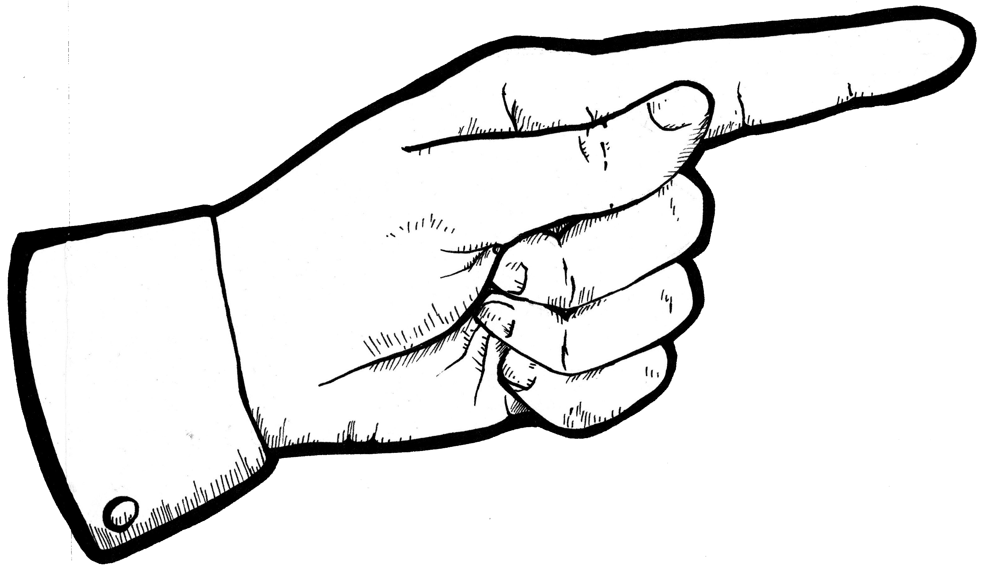 Fingers clipart forefinger. Index finger drawing at