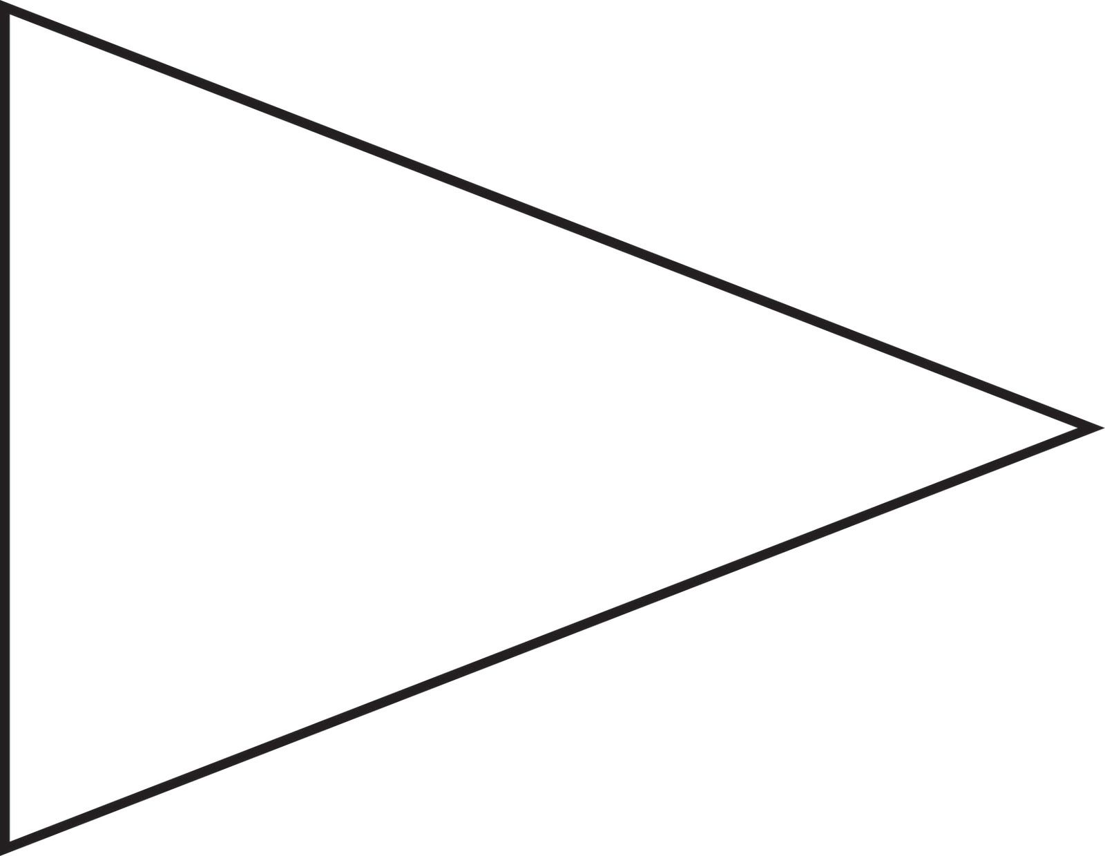 Fingers clipart pennant. Pin triangle flag outline