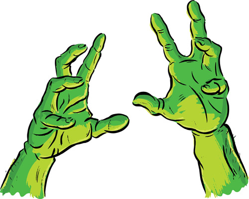 Fingers clipart zombie. Halloween at getdrawings com