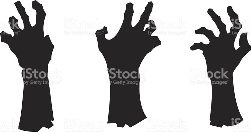 Fingers clipart zombie. Silhouette clip art at