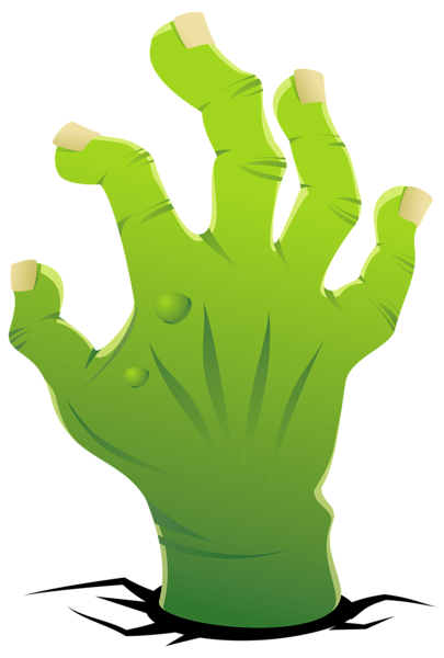 Fingers clipart zombie. Hand png image halloween