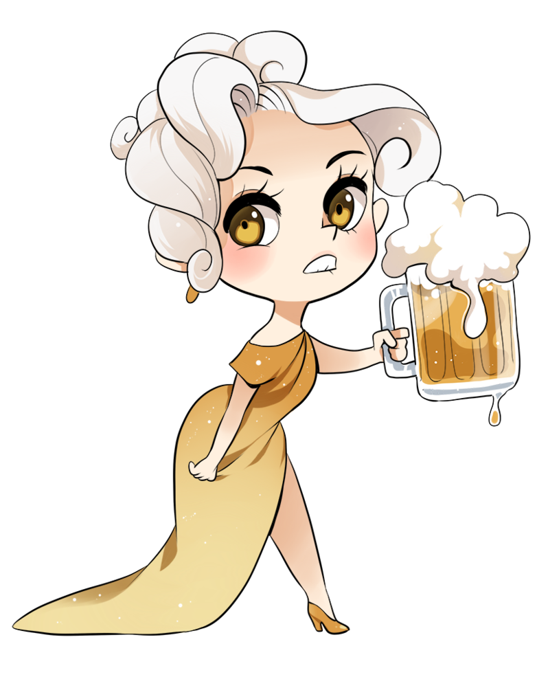Fingers drawing adorable. Beer chan by meago