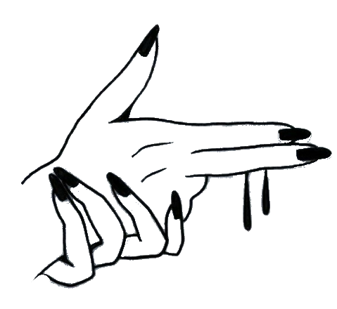 Fingers drawing aesthetic. Hand tumblr sticker by