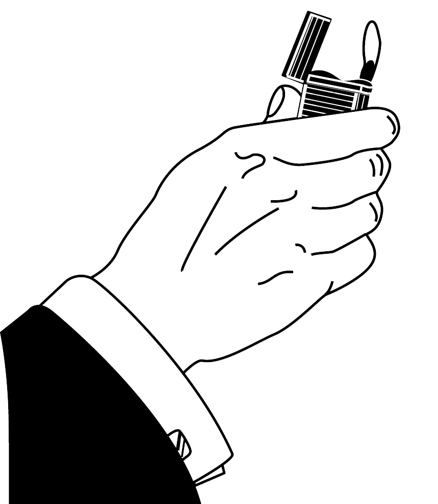 Cigarettes vector hand holding. Cigarette lighter receptacle computer