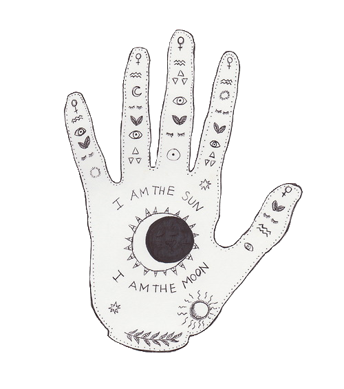 tarot drawing palmistry