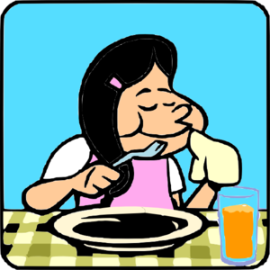 Finish clipart cartoon. Finishedeating clip art at