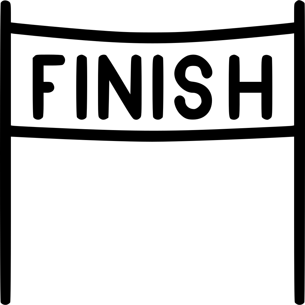 Finish line png. Race svg icon free