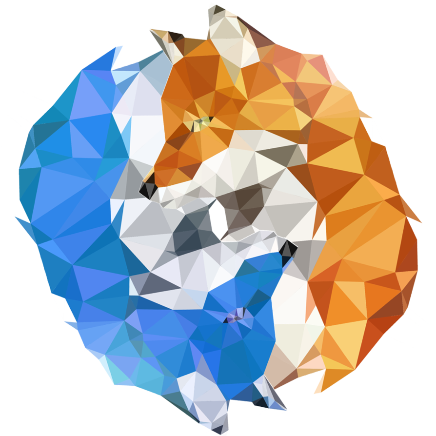Fire and ice png. Foxes firefox polygon icon