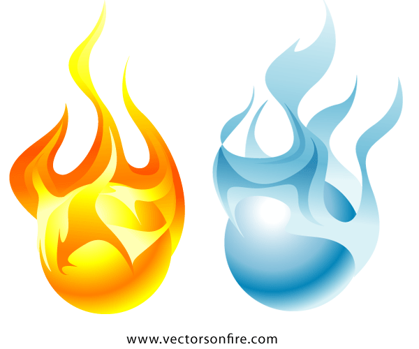 Fire and ice png. Free orbs psd files