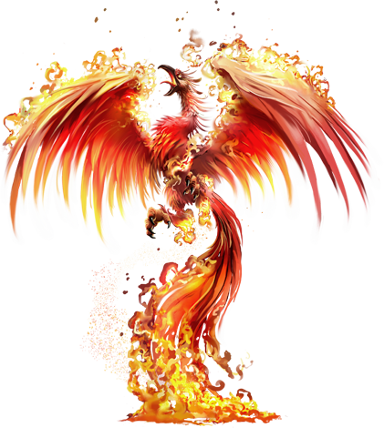 Fire ashes png. Young phoenix e creature