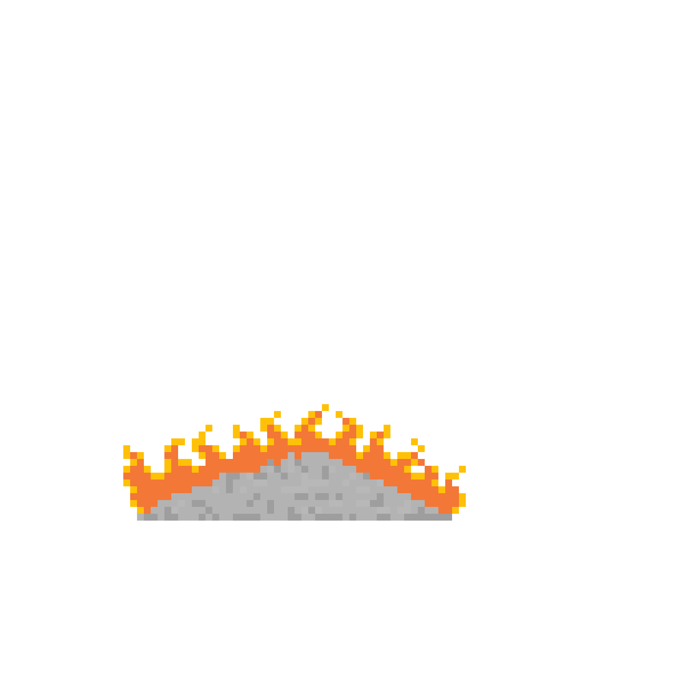 Fire ashes png. Pixilart with yellow by