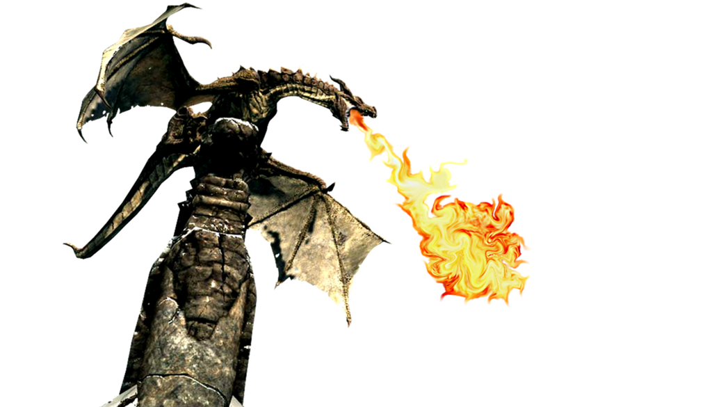 Dragon fire breathing