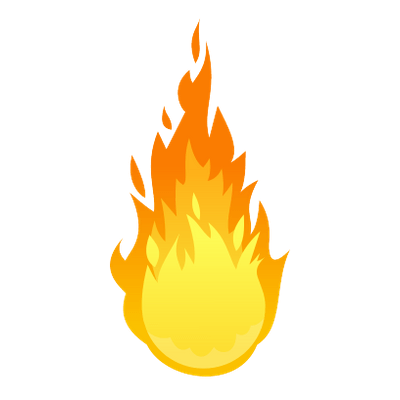 Fire cartoon png. Ball of transparent