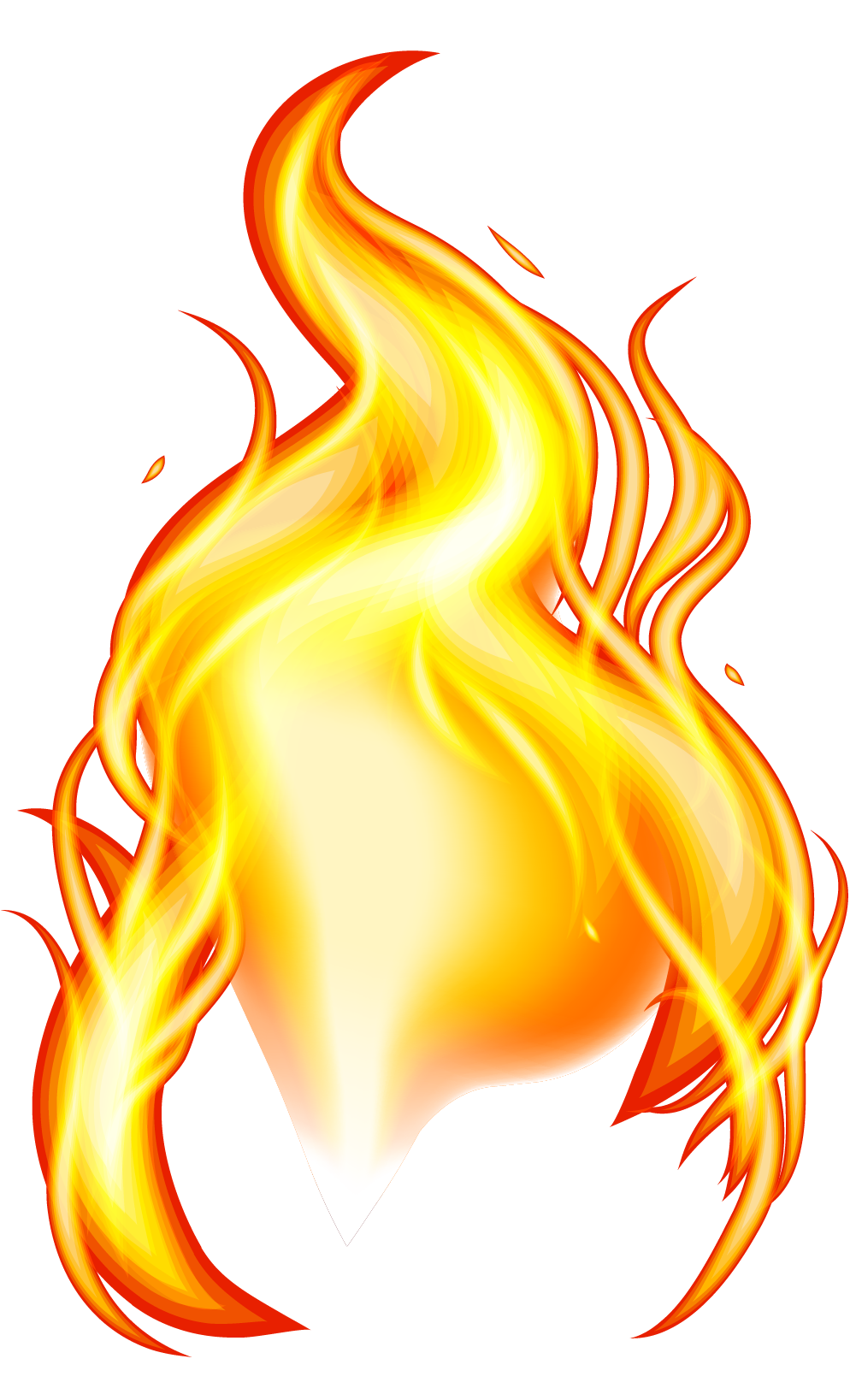 Fire effect png. Yellow flame element transprent