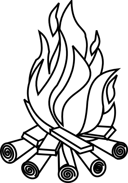 Fire clip black and white. Stock huge freebie