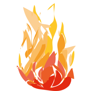 Fire clip horizontal. Flame two art at