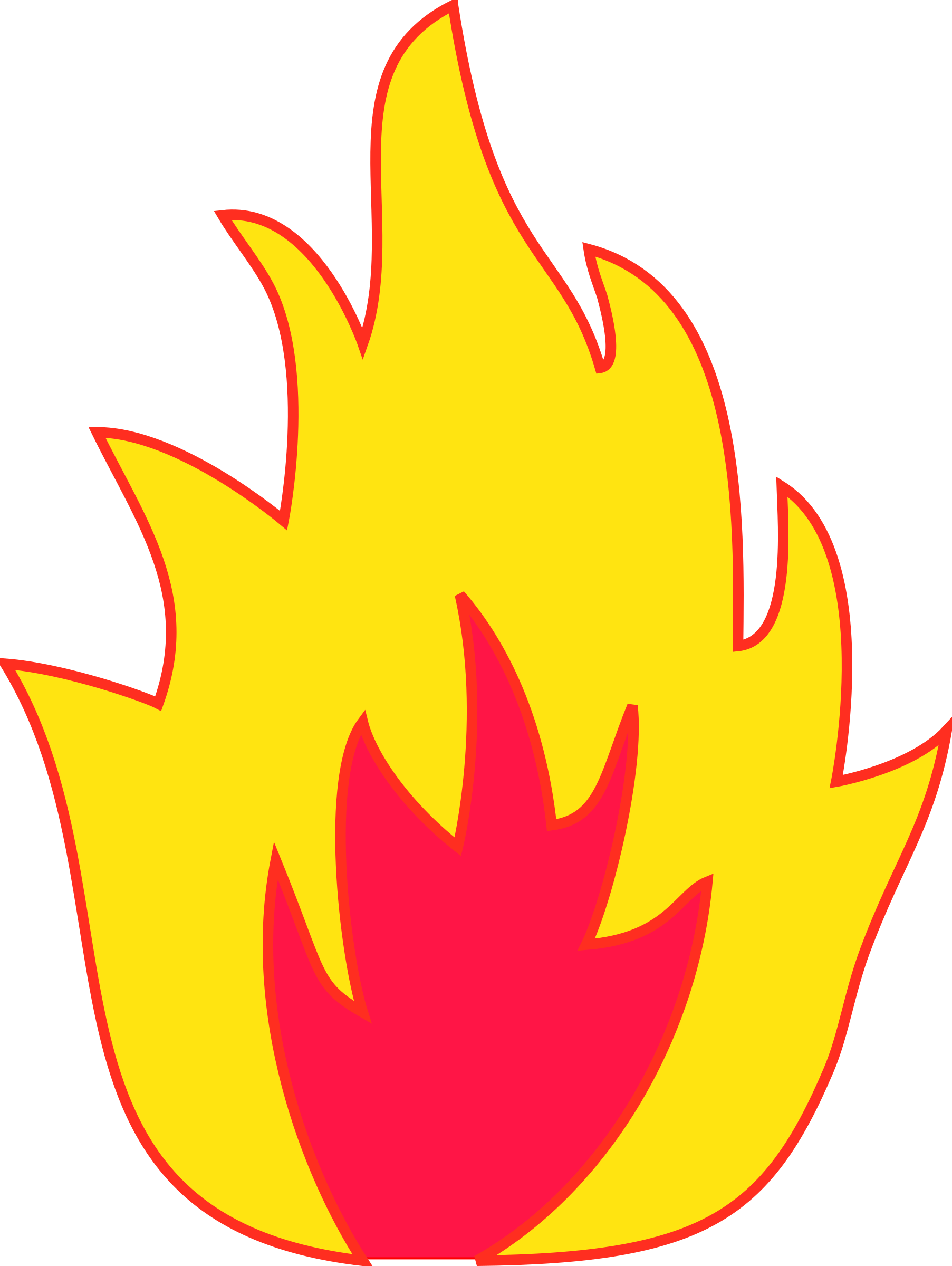 Fire clip pdf. Flames black and