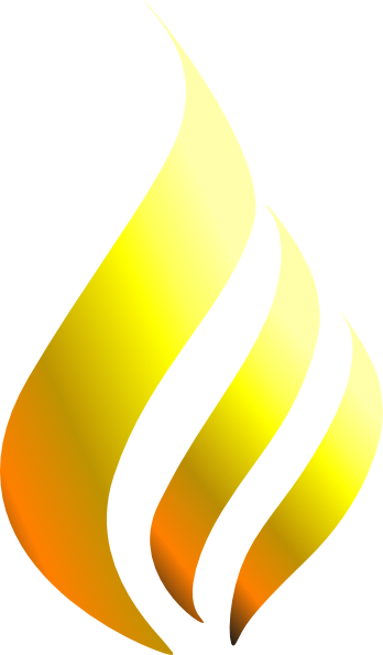Transparent f yellow. Flame clipart