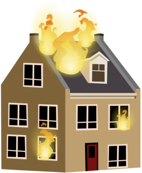 Fire clipart house fire. Extinguishers alarm system firefighting