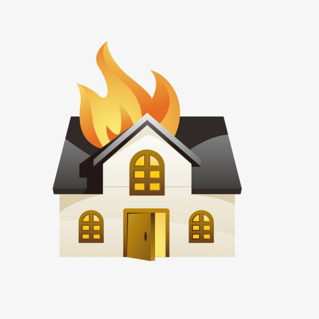 Fire clipart house fire. Pattern png image and