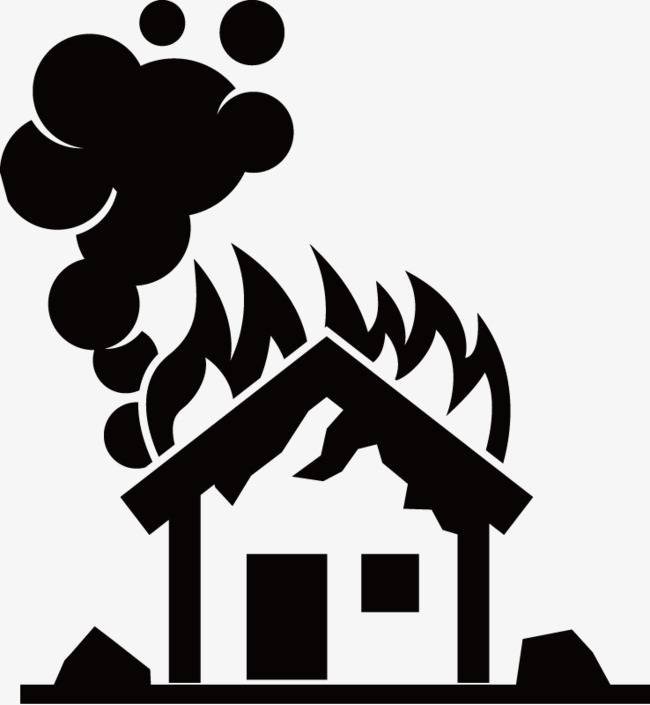 Houses danger png and. Fire clipart house fire svg freeuse stock