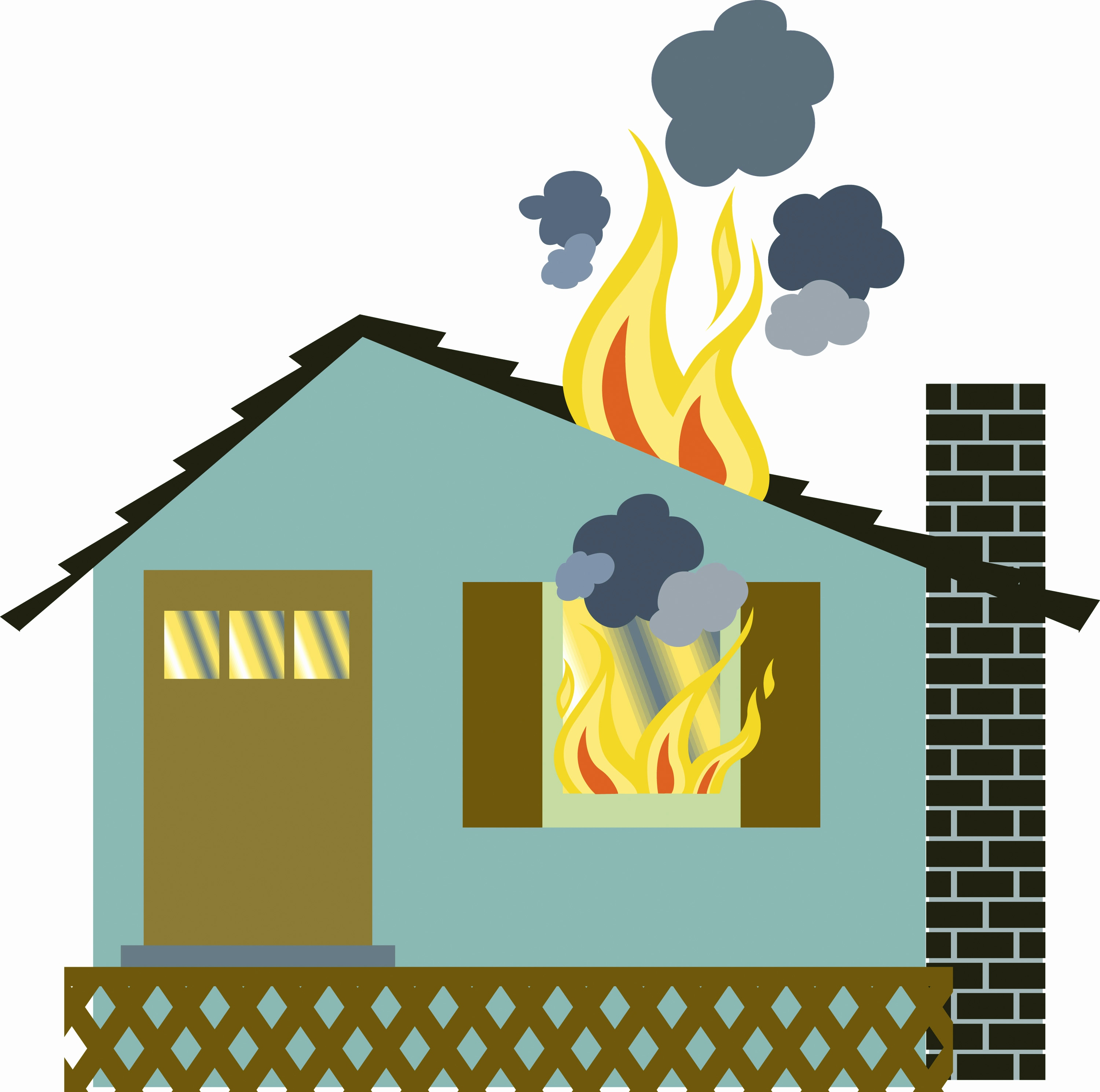Fire clipart house fire. Vector illustration of a