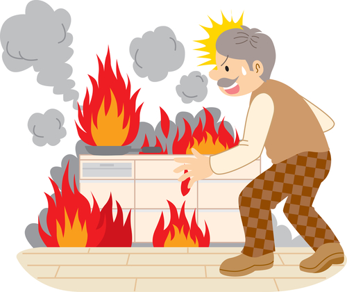 Fire clipart kitchen fire. Don t purchase mount