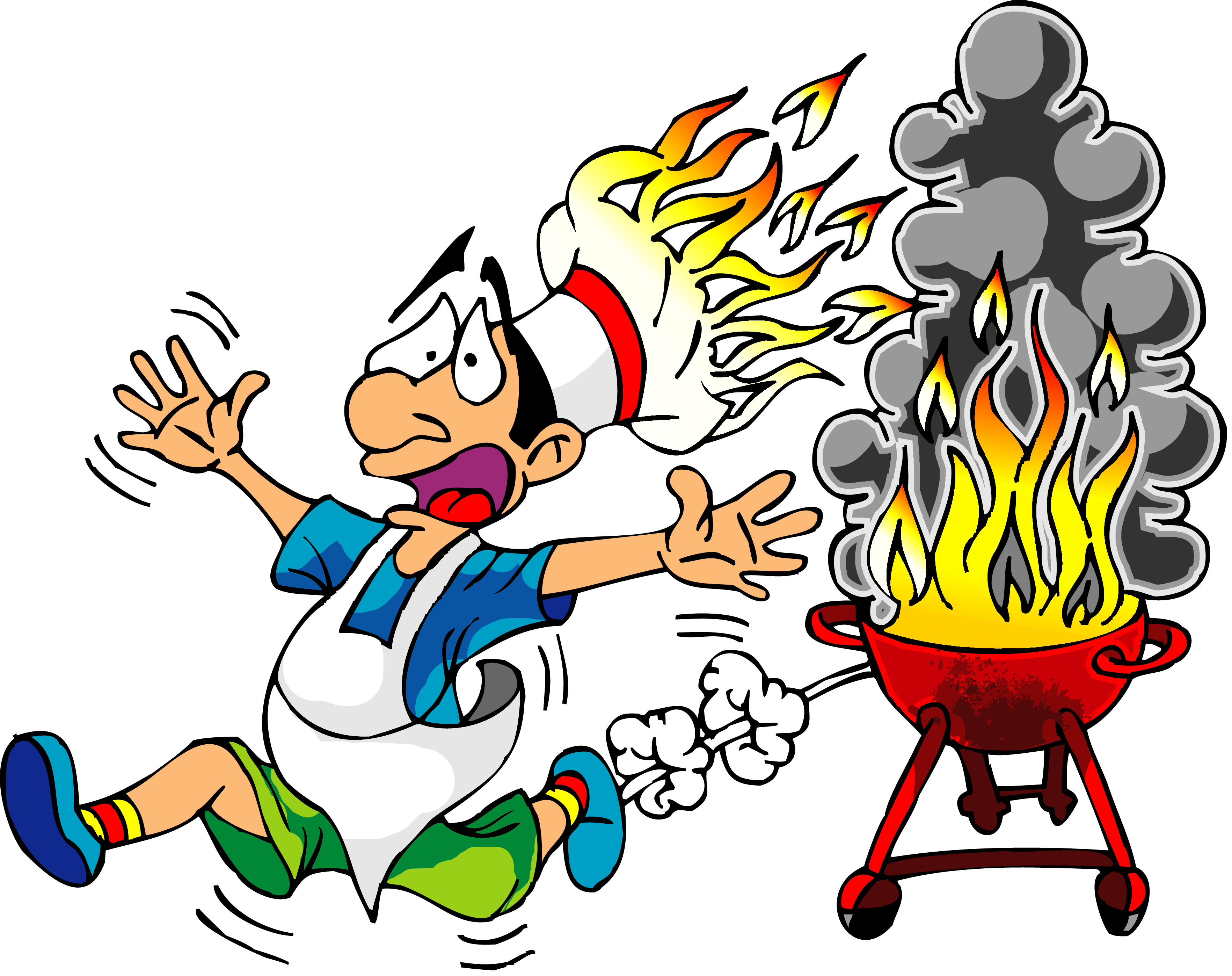 Funy clip. Cook with fire hat jpg transparent library