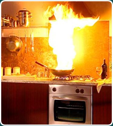Fire clipart kitchen fire. Ask a dumb question