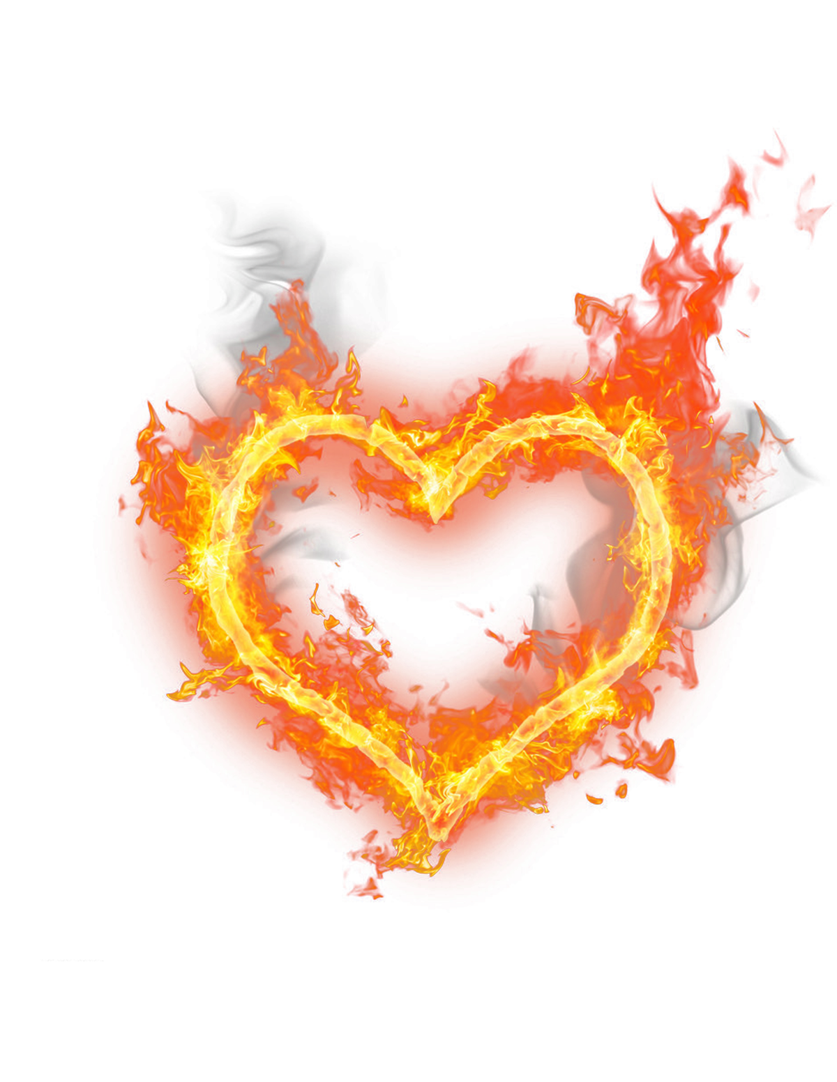 Heart, png flame. Heart fire shaped transprent