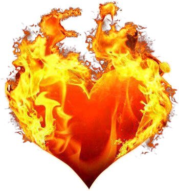 Heart, png flame. Forgetmenot fire hearts