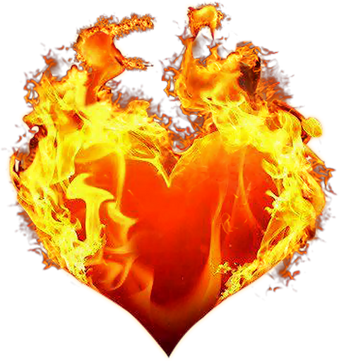 Heart, png flame. Fire and flames sticker