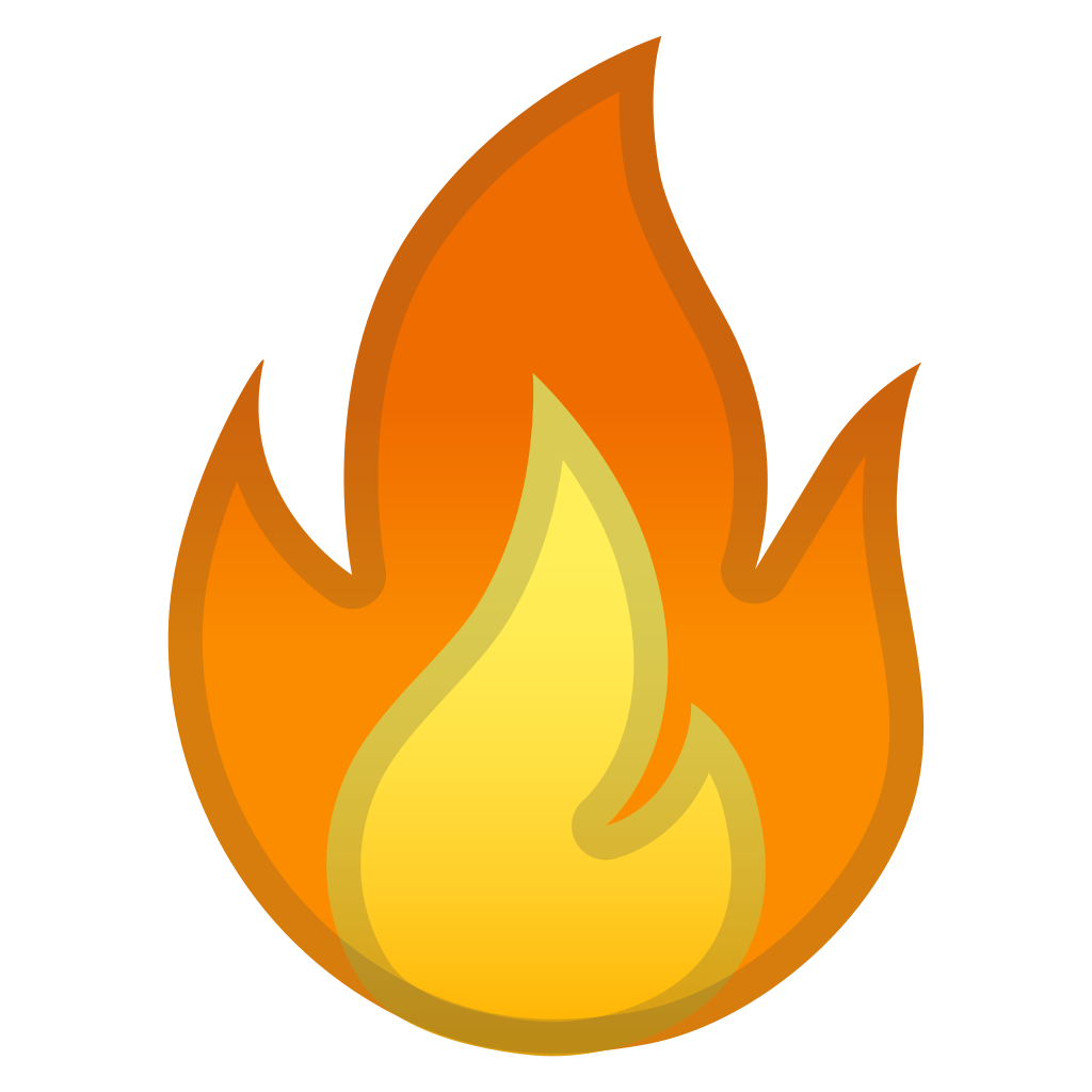 Fire icon png. Noto emoji travel places