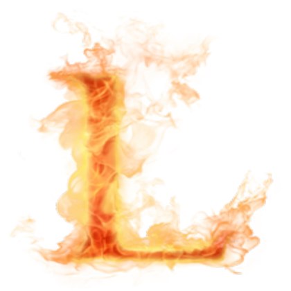 Fire letter l png. Burning psd roblox burningletterlpsd