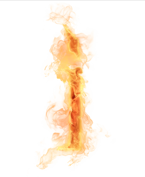 Fire letter png. Burning i psd official