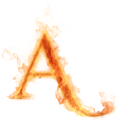 Flame letters png. Ediction burning