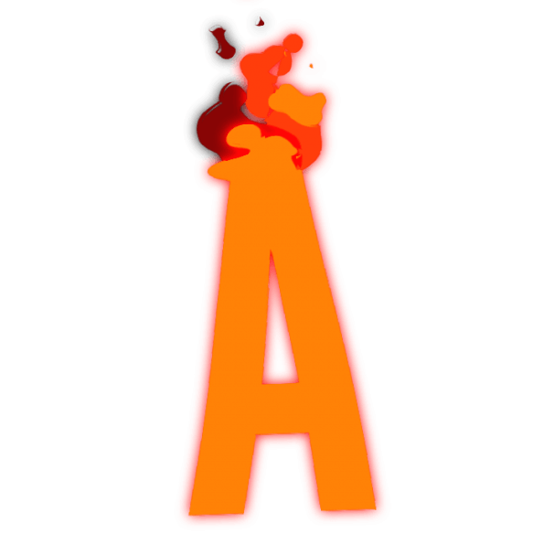 Fire letters png. Buy alphabet animated font
