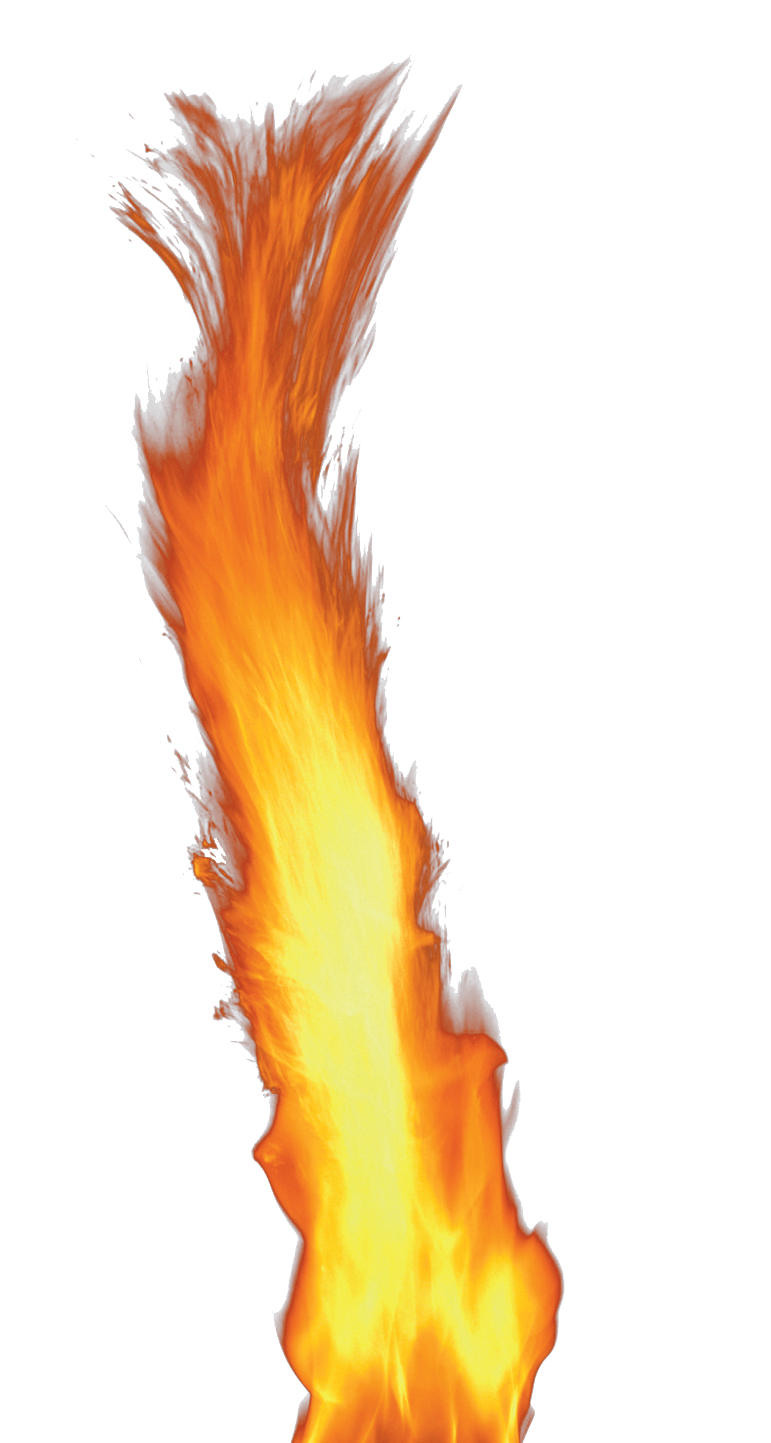 Fuego png. Single flame fire transparent
