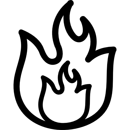 Flame outline png
