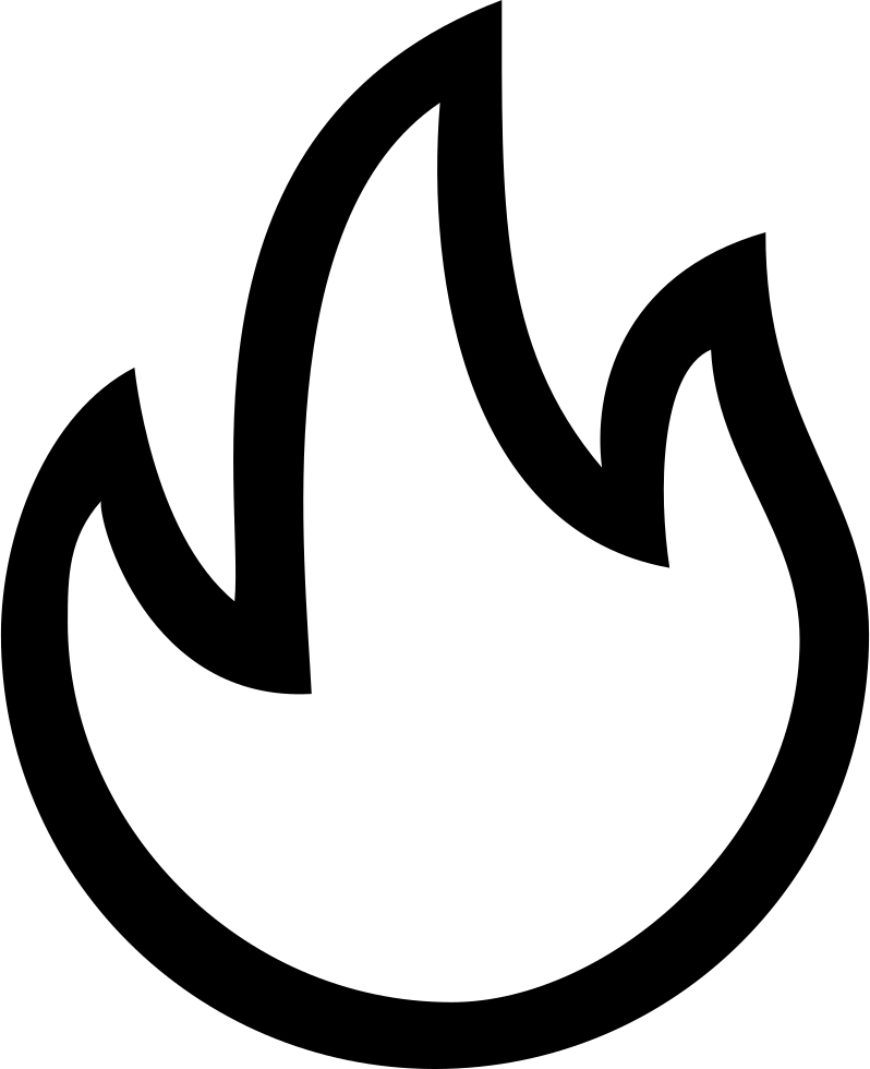 Fire outline png. Hot interface symbol of