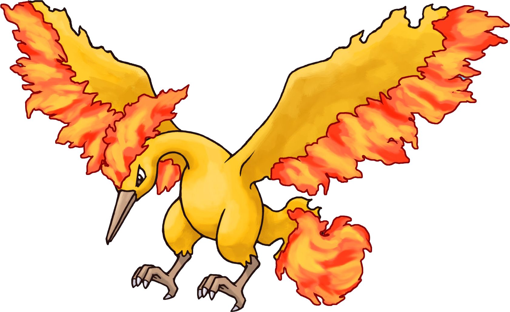 Fire pokemon png. Image moltres mystery dungeon