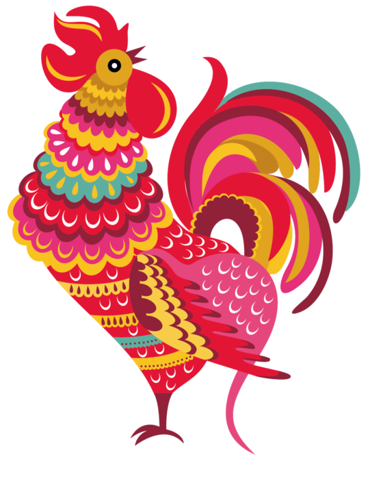 fire rooster png
