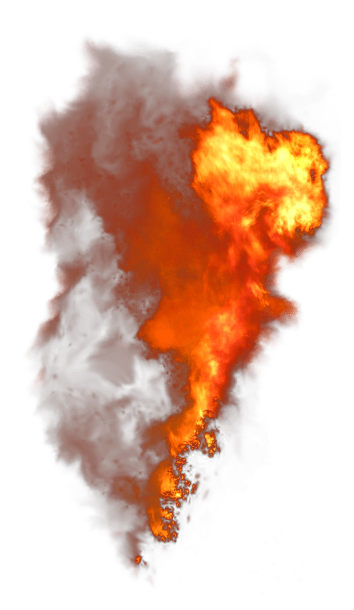 Fire smoke png. Vertical image purepng free
