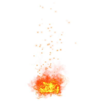 Flame sparks png. Explosion and transparent stickpng
