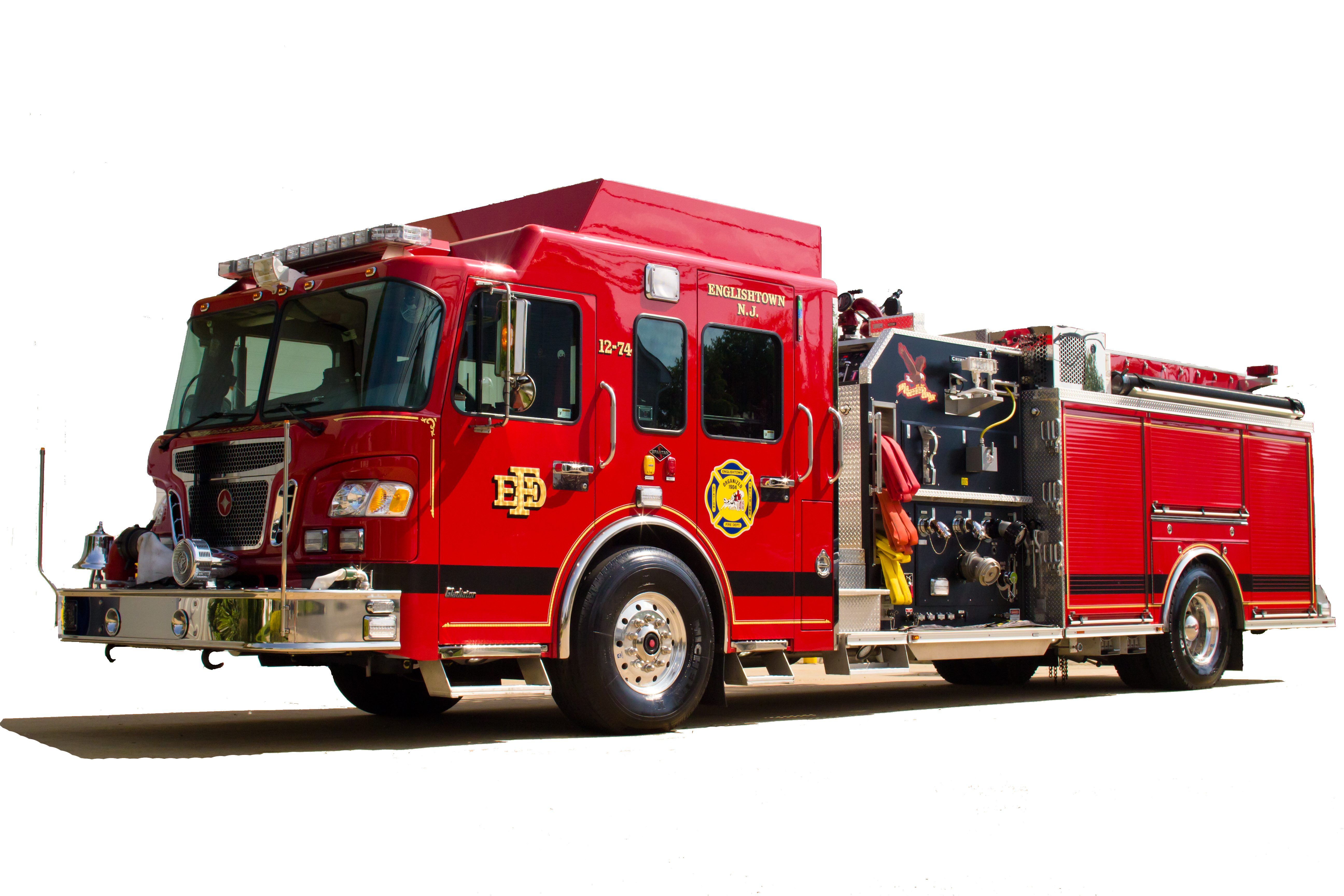 Transparent engine truck. Fire png images free