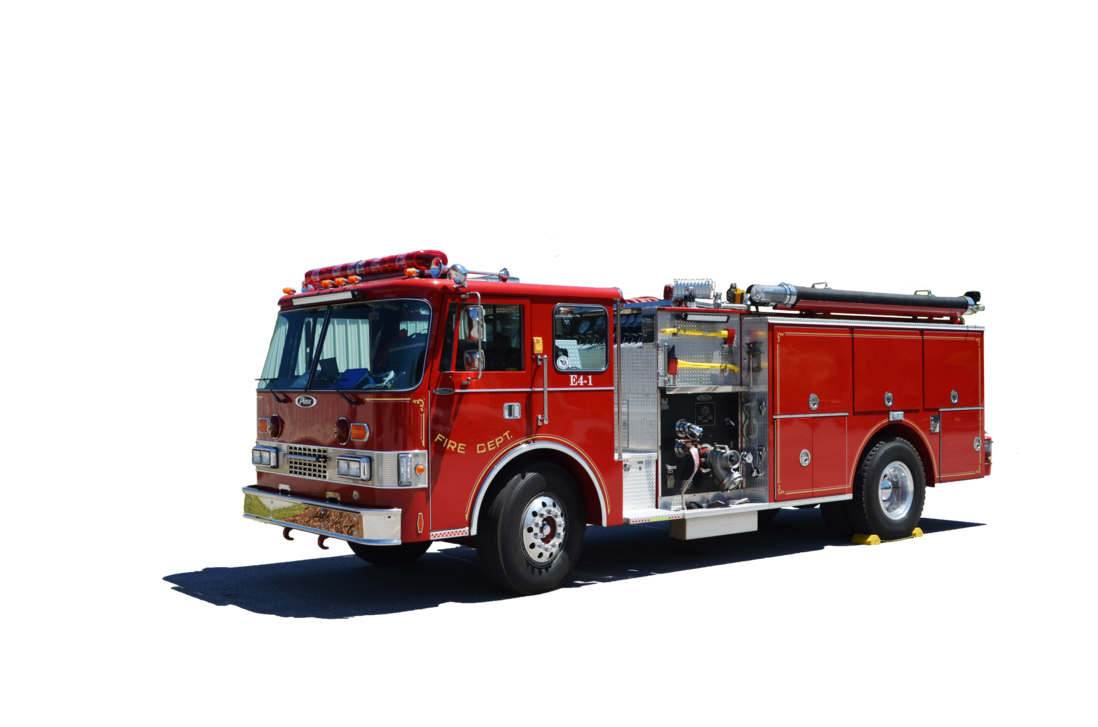 Fire truck png. Engine stock photo by