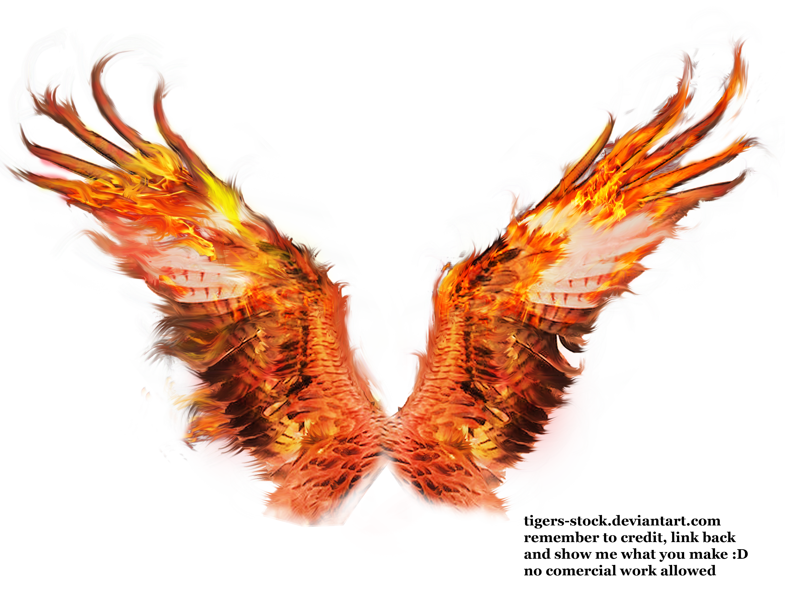 Fire wings png. Deviantart burning letter a